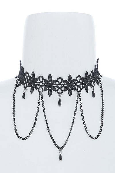 Lace Choker Necklace - Flutterby Jewelry and Accessories