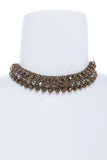 Bejeweled Choker Necklace - Flutterby Jewelry and Accessories