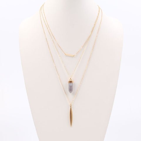 Natural Stone Layered Necklaces - Flutterby Jewelry and Accessories