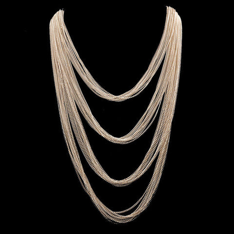 Alaina Layered Chain Necklace - Flutterby Jewelry and Accessories