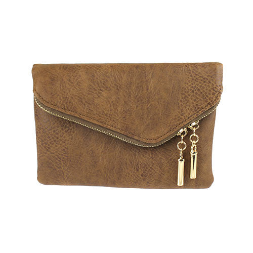 Foldover Zipper Clutch - Flutterby Jewelry and Accessories