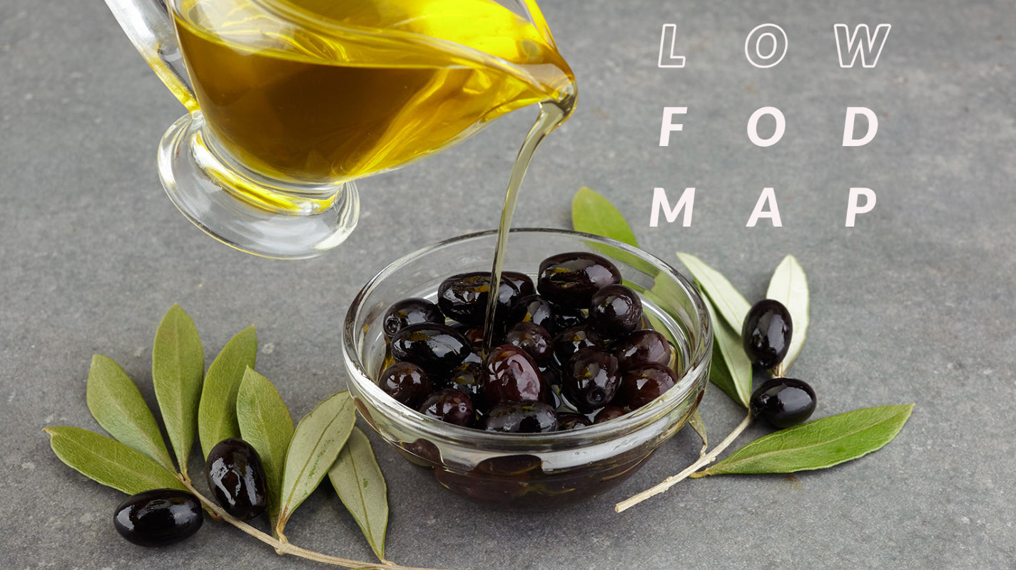 Low-FODMAP Diet with Extra Virgin Olive Oils, Olives