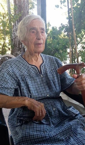 Maria Giannakos a.k.a Yiayia 105 years old and still living in Vasilaki Greece