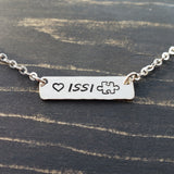 Custom Word Tag Necklace