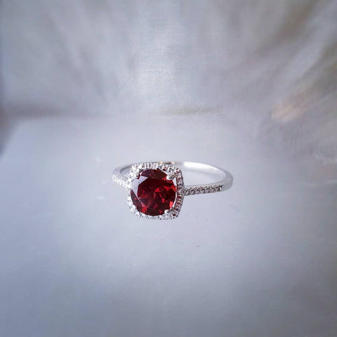 Rudolph Red Garnet Diamond Ring