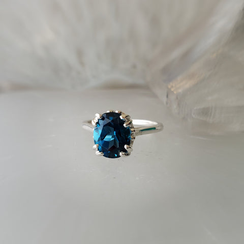 London Blue Topaz Fleur Ring