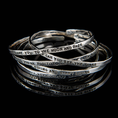 Skinny Inspirational Bangles with Quotes