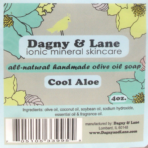 Soap-Olive Oil-Soap- Cool Aloe-clean, refreshing aloe