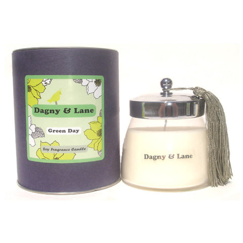 Soy Candle-Green Day-bamboo, bergamot, wild grass