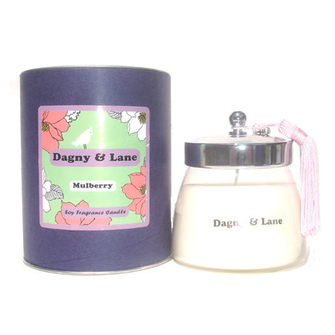 Soy Candle-Mulberry-fruity, tart, mulberries