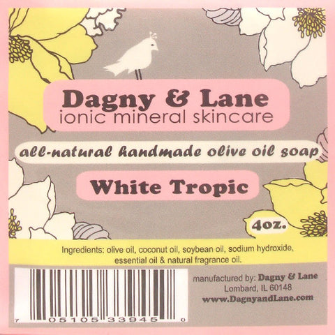 Soap- Olive Oil Soap- White Tropic-wonderful, floral, tropical