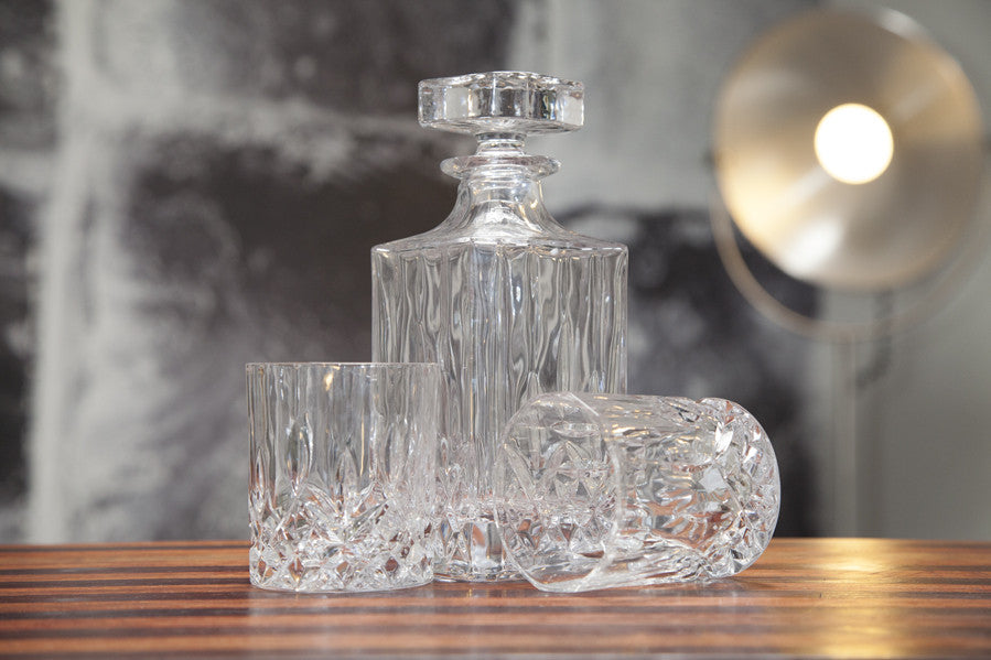 The Admiral Liquor Decanter and glasses