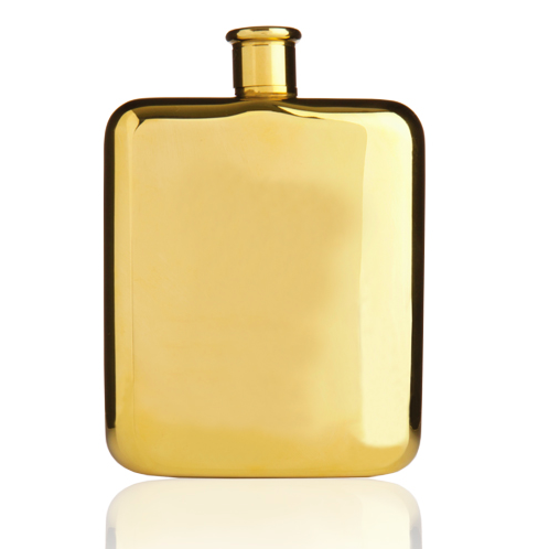 Belmont Gold Plated Flask