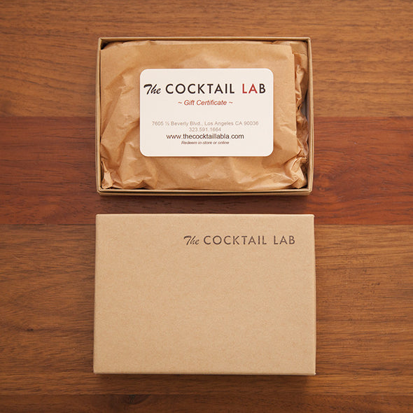 The Cocktail Lab™ $50 Gift Certificate