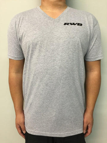 Grey Regular V Neck Tees