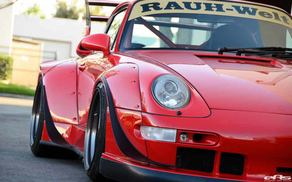 Porsche 993 Wide Body Rauh Welt Begriff Los Angeles