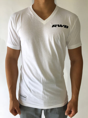 White Regular V Neck Tees