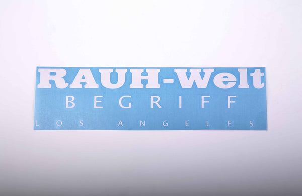 Rauh-Welt Begriff Los Angeles 12 by 3 water proof vinyl sticker