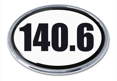 Elektroplate 140.6 Ironman Triathlon Chrome Emblem