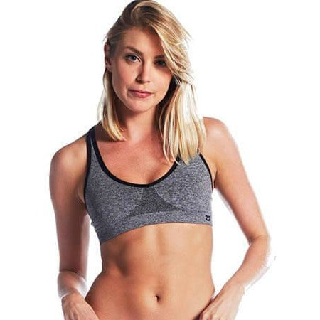 Zensah Racey Sports Bra Heather Grey