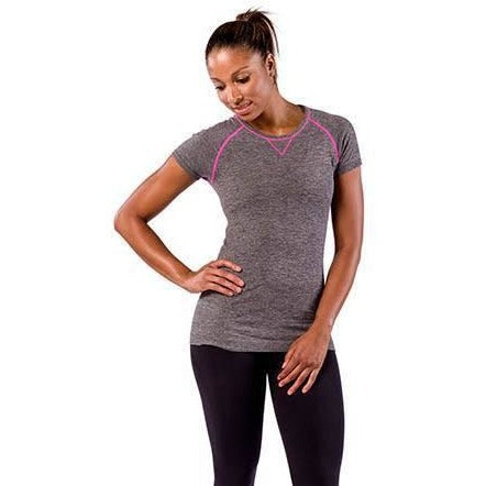 Zensah Run Seamless Short Sleeve Heather Grey