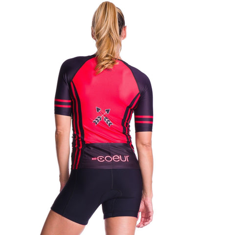 Coeur Women's Sleeved Triathlon Aero Top - Courage 2017