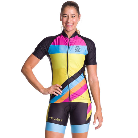 COEUR WOMEN'S CYCLING JERSEY - Island Vibe Design