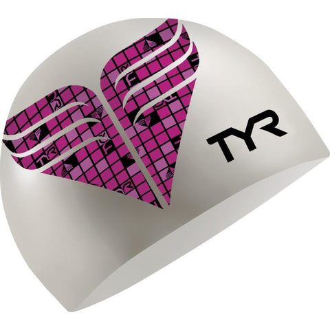 TYR PINK SILICONE SWIM CAP