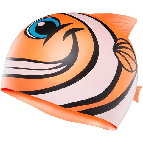 KIDS' CHARACTYR HAPPY FISH SWIM CAP Orange