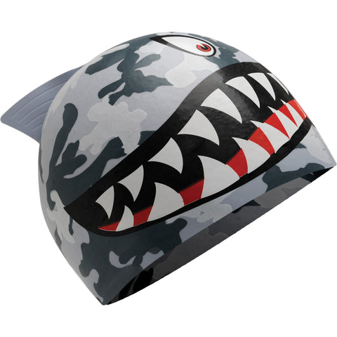 TYR Shark Junior Silicone Swim Cap Grey