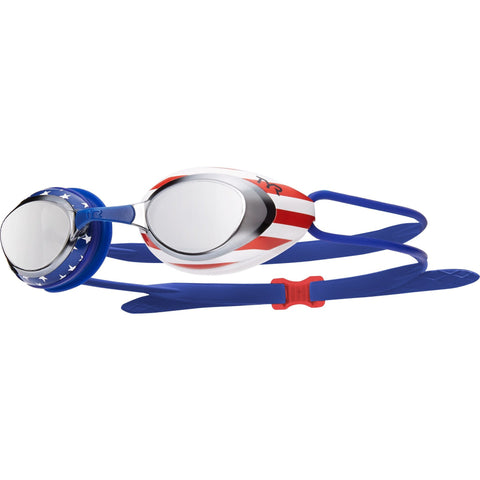 TYR BLACKHAWK RACING MIRRORED USA SWIM GOGGLES