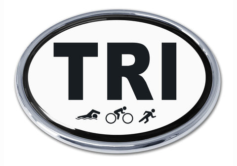 Elektroplate Triathlon Chrome Emblem