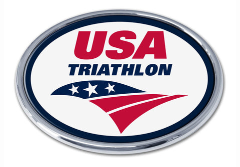 Elektroplate USA Triathlon Chrome Emblem