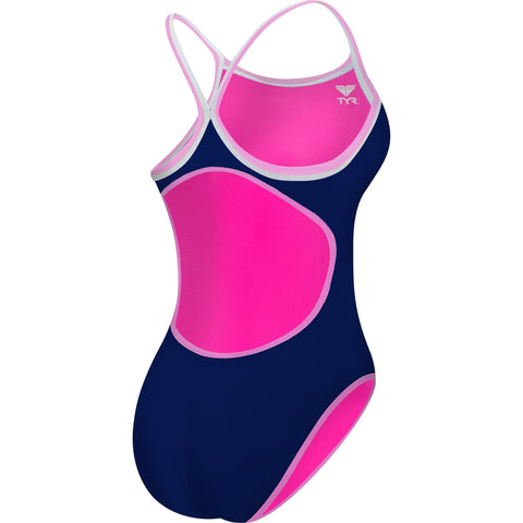 TYR WOMEN'S PINK DOUBLE BINDING REVERSIBLE DIAMONDFIT SWIMSUIT