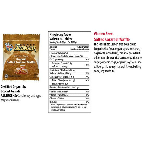 Honey Stinger Gluten Free Organic Waffle - Box of 16