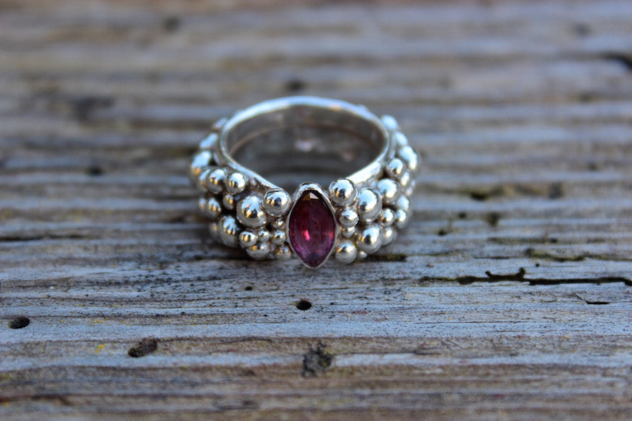 SOLD OUT - RHODOLITE MARQUISE RING - ref.S134