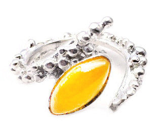 Saorsa yellow onyx ring
