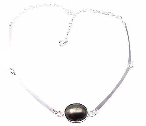 Gravity Hematite necklace