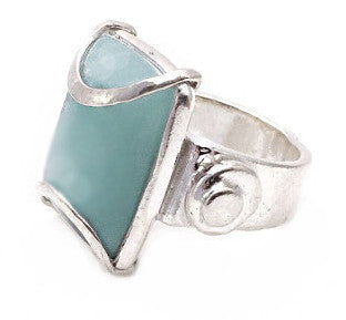 Rock amazonite ring