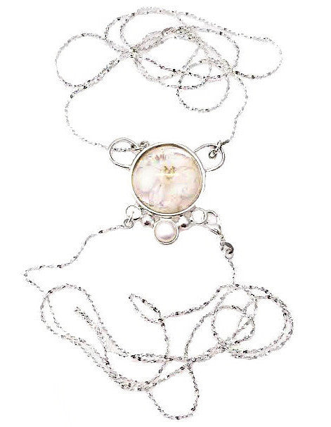 White flower bodychain
