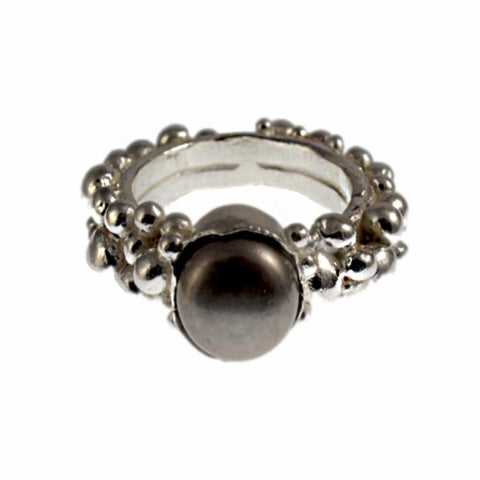 Haos Black Tahitian pearl ring