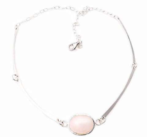 Gravity Pink quartz necklace