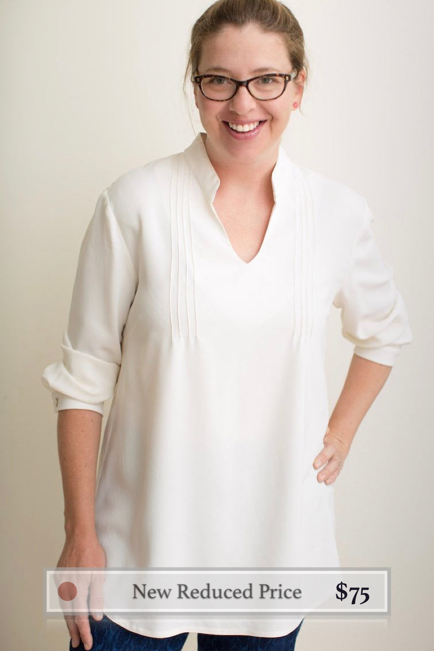 Josie : Tunic in Cream Rayon