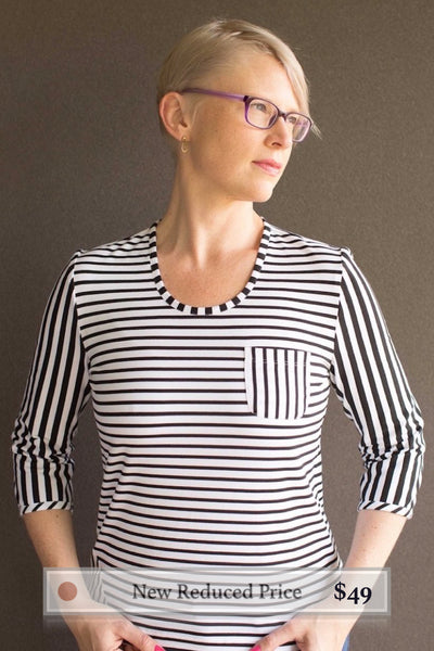 Vera : T-Shirt with Horizontal Stripes