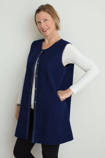 Winter Vest in Pure Wool