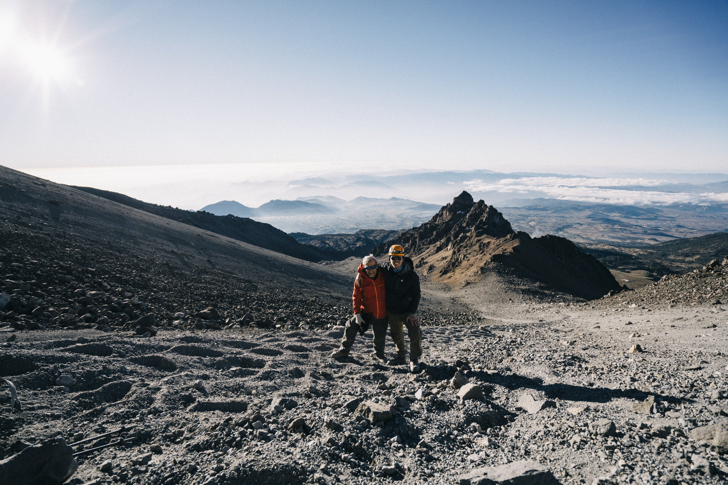 Summit attempt on Orizaba