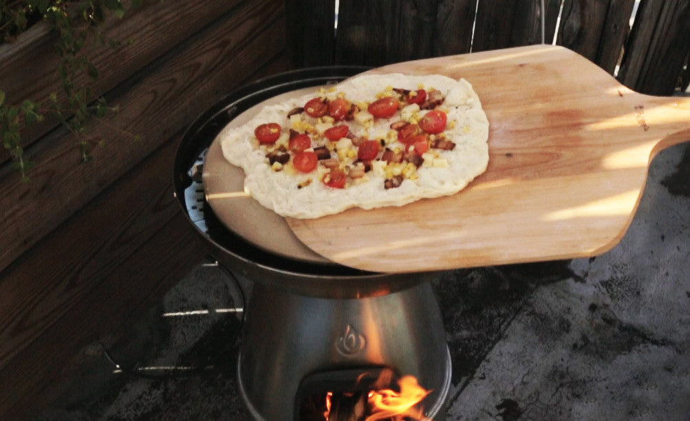 BioLite BaseCamp Recipe - Tomato Bacon Wood Fired Pizza