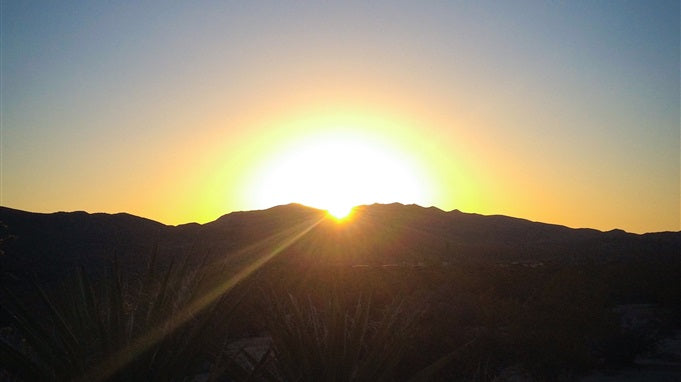 photo of sunrise at the Mojave Desert, California, USA