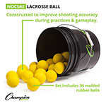 Champion Lacrosse Ball Bucket - Yellow - Soft Lacrosse™