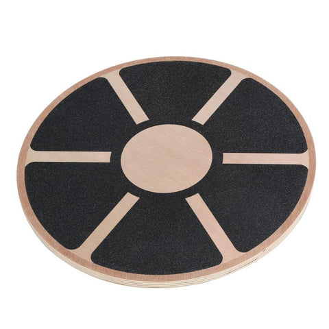 40cm Wood Yoga wobble balance board thicken Stability Disc Waist Wriggling Round plate Sports athletic training# - Soft Lacrosse™